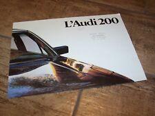 Prospectus  / Brochure AUDI 200 1979 / 1980 //