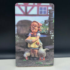 MJ HUMMEL PICTURE mouse pad wall hanging goebel west germany Ricolor goose girl