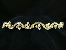Gold Butterfly Bridal Wedding Rhinestone Tiara OT231