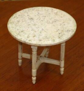 Marble Top Louis XVI Table by Nicole Walton Marble Artisan Dollhouse Miniature