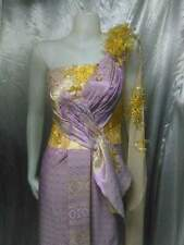 THAI WEDDING DRESS SIAM TRADITIONAL BRIDAL TAILOR DESIGN ROYAL EMBROIDERY