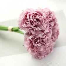 Artificial Silk Fake Flower Peony Floral Wedding Bouquet Bridal Home Decor 5Head