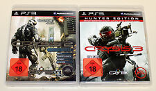 2 PLAYSTATION 3 giochi Set-Crysis 2 Limited Edition & 3 Hunter Edition