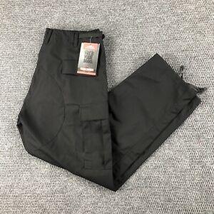 TRU-SPEC Mens Tactical Pants Size Large Regular Black Combat Cargo Trousers NEW
