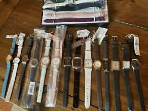 Skagen Denmark Lot of 14 Woman's Analog Watches With Leather Bands - 1 Croton