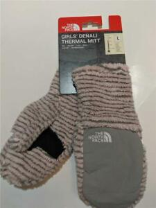 New The North Face Denali Fleece Winter Mitten Purdy Pink for Girls Kid Size M/L