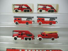 AI782-0,5# 6x Wiking H0 CAMION (Camion grue etc) Magirus Pompier/FW: 630 etc 2x
