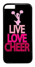 Cute Cheerleader Cheer Bow Pink Quote Back Case Cover for iPhone 4s 5 5s 5c 6 6+