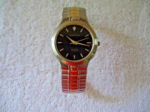"Vintage Mens Sergio Valente Diamond Quartz Wristwatch "" BEAUTIFUL WATCH """