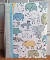 NEW CR Gibson CARAVAN Animals Gender Neutral Baby Keepsake Book Dwell Studios