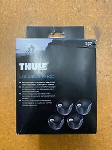 NEW THULE 527 LOCKABLE KNOB - SET OF 4  X4 FOR REAR MOUNTED BIKE CARRIERS
