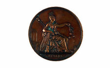 "French bronze medal""Protector Of Arts"" c1836 by CAQUE - Audot Editeur"