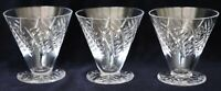 3 Vintage Retro ? Art Deco Webb Corbett Cut Crystal Sherbert glasses