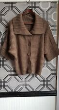 Dorothy Perkins Womans Brown Short Sleeve Button Up Cardigan Size 12
