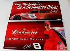 2 Dale Earnhardt Jr Budweiser Beer Nascar Racing Dangler Hanging 2 Sides Signs