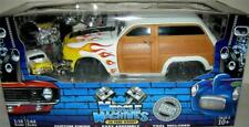 50 FORD WOODY  BUILD IT KIT WHITE WITH FLAMES   VERY RARE  1:18 SC. RARE