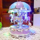 US Vintage Horse Carousel Music Box Kids Toys Flash Light Musical Birthday Gifts