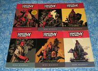 6 Hellboy Mike Mignola Graphic Novel Set Lot Softcover TPB Volume 1 2 3 4 5 6