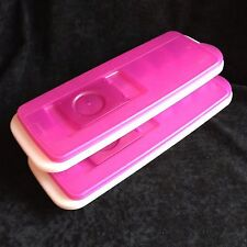 Tupperware Fresh and Pure Ice Cube Trays with Lids Lot of 2 Made in the USA
