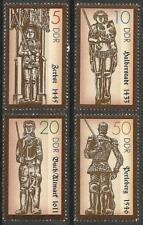 Germany (East) DDR GDR 1989 MNH - Statues of Roland Zerbst Halberstadt Perleberg