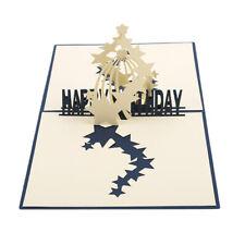3D Greeting Card Happy Birthday Laser Cut Star Anniversary Birthday Card DD