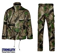 Stormkloth Trek Camo Camouflage Deluxe Jacket / Trouser Waterproof Breathable