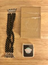 Bracelet Apple Watch Series 2 & 3 Beaded Black With Protective Rubber Case 38mm