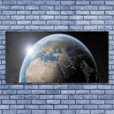 Wandbilder Glasbilder Druck auf Glas 140x70 Erdball Weltall