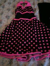 """Guc Cute 2 Piece Polka Dot """"Designs For Dance""""Outfit Size 12/14 Girls ( Box 7)"""