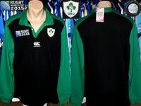 Rugby Union IRFU Ireland Canterbury iRB WC2015 Alternative Jersey Longsleeve