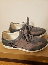 Kathy Van Zeeland Woman's Sneaker Shoes Laces Rhinestones Canvas PU Upper Sz 10M