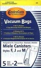 15 Miele F J M Allergen Vacuum Bags + 6 Filters