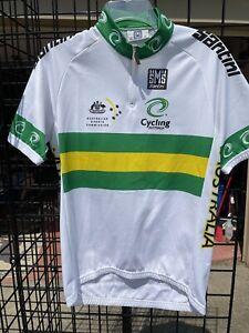Mens XL Australia Cycling Jersey green white cyclones