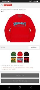 Supreme Thrasher FW21 Sweater Red Size extra Large (XL)