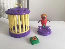 Vintage Littlest Pet Shop Ticklish Toucan w/ Cozy Cage Purple Bird Kenner 1992