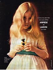 PUBLICITE ADVERTISING  1963   LANVIN  parfum ARPEGE