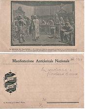 # ROMA 1907- MANIFESTAZIONE ANTICLERICALE NAZ. - LA CONDANNA A GIORDANO BRUNO