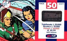 SCHEDA RICARICA USATA TIM GORDON 50 APRILE 2002 16P OCR 20