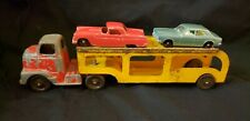 "9"" Vintage Collectible Tootsie Toy Car Transporter Hauler Truck Pressed Steel"