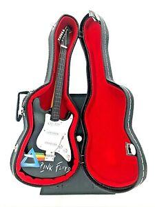 Miniature Fender Stratocaster Guitar - Pink Floyd - (Includes Hard Case)