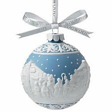 Wedgwood Carolers Blue Jasper Ware Ornament Ball New In Box