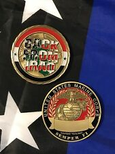 USMC BACK FROM IRAQ Combat Veteran OIF OEF Marine Semper Fi Challenge Coin 50mm