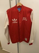 ADIDAS ORIGINALS Baseball Bomber Jacket Team GB London Olympics 2012 Red Medium