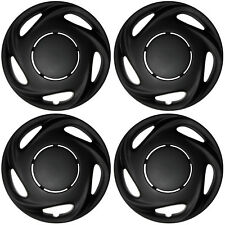 "4 Pc Set of 14"" Matte Black Hub Caps Rim Cover for OEM Steel Wheel - Covers Cap"