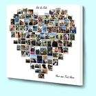 Fantastic personalised love heart shape photo collage box framed canvas print