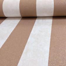 P&S Carat Glitter & Stripes Luxury Wallpaper Copper 13346-50