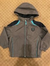 Protection System Boys Gray Hooded Light Fleece Lined Jacket Coat Sz 4