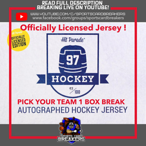 PICK YOUR TEAM 20/21 HIT PARADE OFFICIAL LICENSE HOCKEY JERSEY (1)BOX BREAK #02