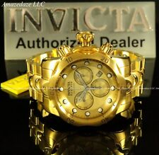 Invicta Reserve Men 52mm Venom Swiss Chronograph 18k Gold Plated Stainless Watch