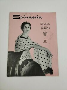 Vintage Spinnerin Stoles & Shrugs Pattern Book Fashion 1964 Mens Womens #122